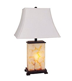 Ore International™ Rectangle Shade Table Lamp With Night Light