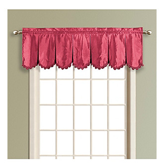 "United Curtain Co. Anna 18"" Pleated Scalloped Valance"