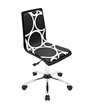 Lumisource® Black Printed Circles Computer Chair