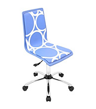 Lumisource® Blue Printed Circles Computer Chair