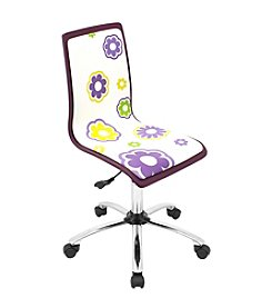 Lumisource® Purple Printed Daisy Computer Chair