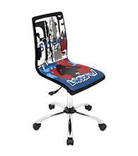 Lumisource® Black Printed Graffiti Computer Chair