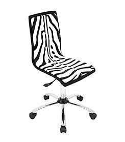 Lumisource® Printed Zebra Computer Chair