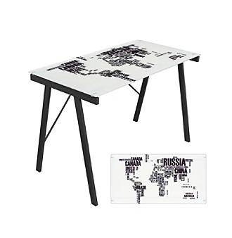 Lumisource® World Map Office Desk
