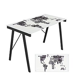 Lumisource® World Map Office Desk