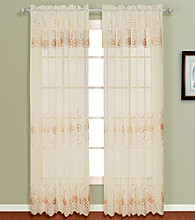Marianna Set of 2 Panels with Attached Valance by United Curtain Co.