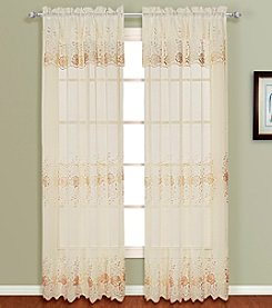 Marianna Window Panel Set with Attached Valance by United Curtain Co.