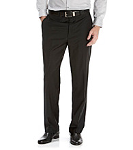 Calvin Klein Men's Black Flat Front Suit Pants