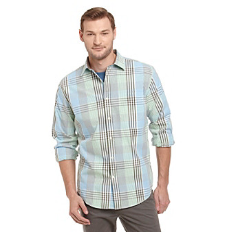 John Bartlett Consensus Men's Plaid Button Down Shirt