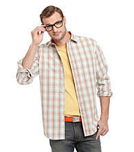 John Bartlett Consensus Men's Plaid Washed Button Down Shirt