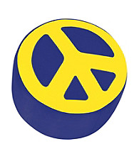 Lumisource® Blue & Yellow Peace Sign Ottoman