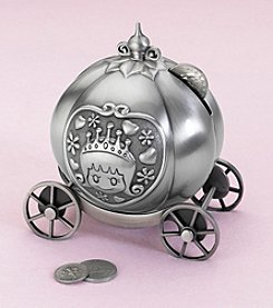 Lillian Rose® Fairytale Coach Pewter Bank