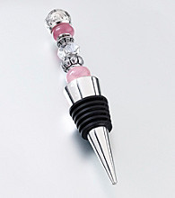 Lillian Rose® Beaded Wine Stopper-Pink