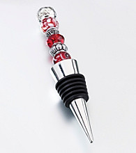 Lillian Rose® Beaded Wine Stopper-Red