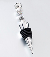 Lillian Rose® Beaded Wine Stopper-Silver