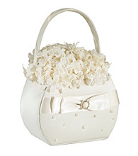 Lillian Rose® Scattered Pearl Basket - Ivory