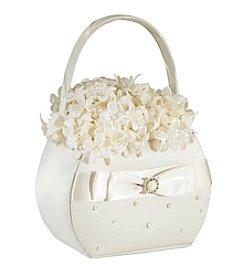 Lillian Rose® Scattered Pearl Basket - Ivory