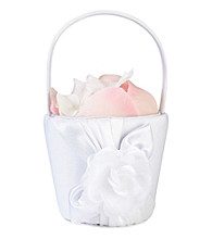 Lillian Rose® White Rose Basket