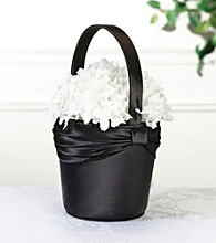 Lillian Rose® Satin Flower Basket - Black