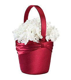 Lillian Rose® Satin Flower Basket - Red