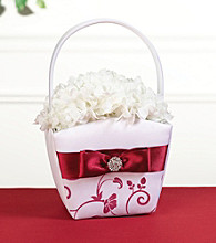 Lillian Rose® Red & White Flower Basket