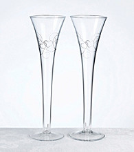 Lillian Rose® Double Heart Flutes