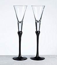 Lillian Rose® Set of 2 Tall Flutes - Black