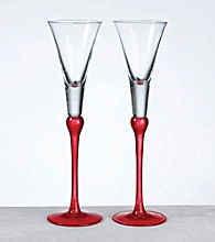 Lillian Rose® Set of 2 Tall Flutes - Red