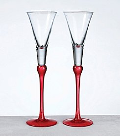 Lillian Rose® Set of 2 Red Tall Flutes