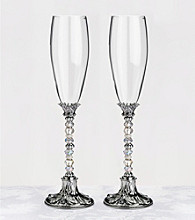 Lillian Rose® Beaded Glasses-Silver