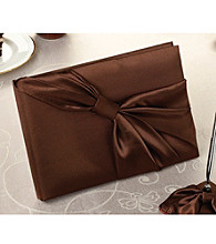 Lillian Rose® Brown Satin Guest Book