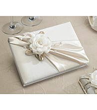 Lillian Rose® Taupe Rose Guest Book