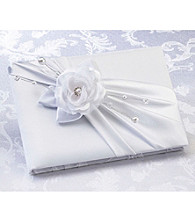 Lillian Rose® White Rose Guest Book