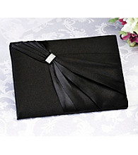 Lillian Rose® Satin Rhinestone Guest Book - Black