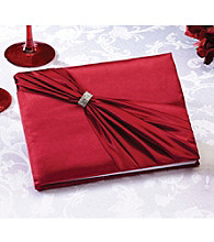 Lillian Rose® Satin Rhinestone Guest Book - Red
