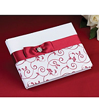Lillian Rose® Red & White Guest Book