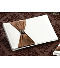 Lillian Rose® Jeweled Brown Guest Book