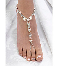 Lillian Rose® Set of 2 Pearl/Rhinestone Foot Jewelry