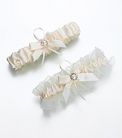 Lillian Rose® Set of 2 Ivory Pearl Garters