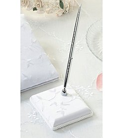 Lillian Rose® Elegant Satin Square Pen - White
