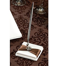Lillian Rose® Brown Jeweled Pen Set