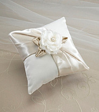 Lillian Rose® Taupe Rose Ring Pillow