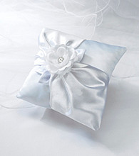 Lillian Rose® White Rose Pillow