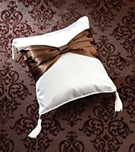 Lillian Rose® Brown Bow Ring Pillow