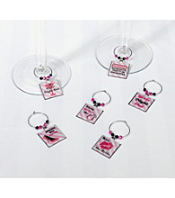 Lillian Rose® Set/6 Bachelorette Wine Charms