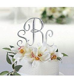Lillian Rose® Silver Rhinestone Monogram