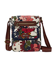 sakroots™by The Sak Artist Circle Small Flap Messenger - Natural Peace Print