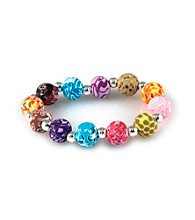 Viva Beads® Festival 12mm Chunky Clay Bead Stretch Bracelet