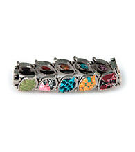 Viva Beads® Festival Pebble Leaf Stretch Bangle