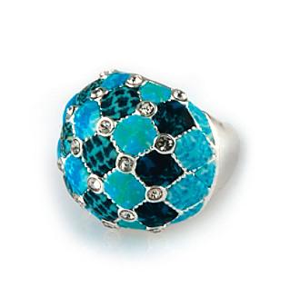 Viva Beads® Blue Brook Crystal Cocktail Bead Ring